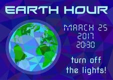 Aardeuur - globale jaarlijkse internationale gebeurtenis Royalty-vrije Stock Afbeeldingen