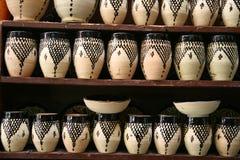 Aardewerk in Marrakech Royalty-vrije Stock Foto