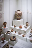 Aardewerk in museum van Mycenae Stock Fotografie