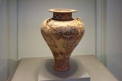 Aardewerk in museum van Mycenae Royalty-vrije Stock Afbeelding