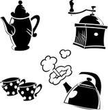Aardewerk voor koffie Stock Fotografie