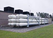 Aardgascontainers Royalty-vrije Stock Fotografie
