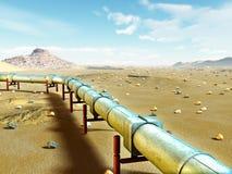 Aardgasleiding royalty-vrije illustratie