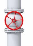 Aardgasleidingsklep Stock Afbeeldingen