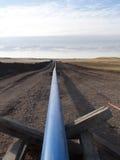 Aardgaspijpleiding stock afbeelding