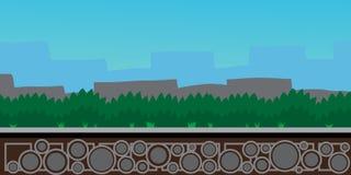 Aardlandschap, achtergrond voor spelen, gras Stock Foto