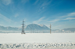 Aardlandschap in de winter wordt geschoten die Royalty-vrije Stock Fotografie
