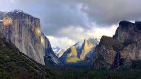 Aardlandschap van het Nationale Park van Yosemite, Californië, de V.S. stock afbeelding