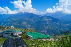 Aardlandschap van Taiwan - Cingjing stock fotografie