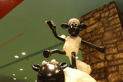 Aardman-` s Shaun die Schafcharaktere auf display at Expocity Lizenzfreie Stockfotografie