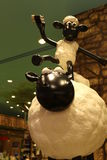 Aardman ` s Shaun fårteckenen på display at Expocity Arkivfoton