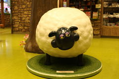 Aardman`s Shaun the Sheep characters on display at Expocity Royalty Free Stock Images