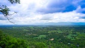 Aardmening vanuit het gezichtspunt van de klip van Pha Koeng Landa Mountai Royalty-vrije Stock Fotografie