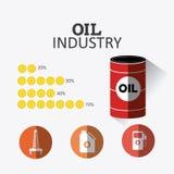 Aardolie en olie de industrie infographic ontwerp Stock Foto