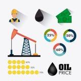 Aardolie en olie de industrie infographic ontwerp Royalty-vrije Stock Foto's