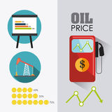 Aardolie en olie de industrie infographic ontwerp Royalty-vrije Stock Fotografie