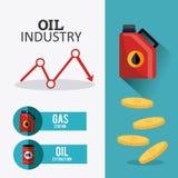 Aardolie en olie de industrie infographic ontwerp Royalty-vrije Stock Afbeeldingen