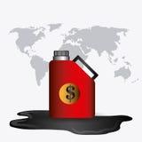 Aardolie en olie de industrie infographic ontwerp Stock Fotografie
