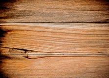 Aardpatroon van oppervlakte van de teak de houten decoratieve muur stock fotografie