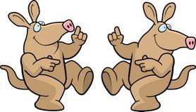 aardvark χορεύοντας ελεύθερη απεικόνιση δικαιώματος