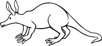 Aardvark. Line drawing of an aardvark Stock Images