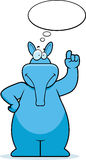 Aardvark Thinking. A cartoon aardvark thinking and smiling Royalty Free Stock Photo