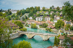 The Aare at Bern, Switzerland. Stock Photography