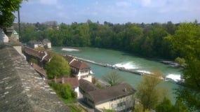 Aare Berne, Schweiz Arkivfoto