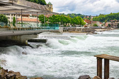Aare flod Bern Schweitz Arkivbilder