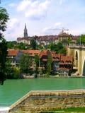 Aare flod i Bern Arkivbild