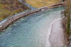 Aare flod i Bern, Schweiz Royaltyfri Fotografi