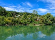 Aare flod i Schweiz Arkivbilder