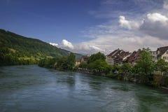 Aare-Fluss Lizenzfreies Stockfoto