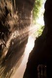 Aare-gorge légère d'or Photo libre de droits