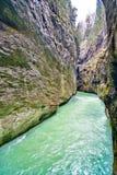 Aare klyfta - Aareschlucht på floden Aare Royaltyfria Bilder