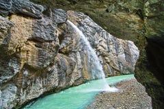 Aare klyfta - Aareschlucht på floden Aare Arkivbild