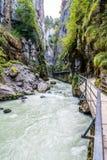 Aare klyfta i Schweiz Arkivbild