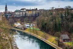 Aare river Royalty Free Stock Photo