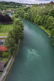 Aare river from Bern city, Switzerland Royalty Free Stock Photography
