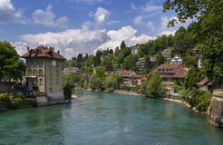 Aare river, Bern. View of Aare river in Bern old city, Switzerland royalty free stock image