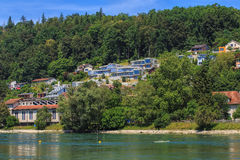The Aare river in Switzerland in summer Stock Images