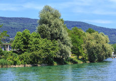 Aare river in Switzerland Royalty Free Stock Photo