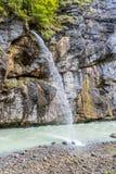 Aare-Schlucht in der Schweiz Stockfotos