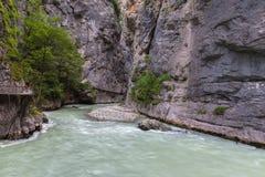 Aare-Schlucht in der Schweiz Stockbilder