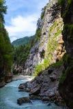Aare-Schlucht in der Schweiz Lizenzfreie Stockfotos