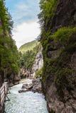 Aare-Schlucht in der Schweiz Stockfotografie