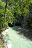 Aare-Schlucht in der Schweiz Stockfoto