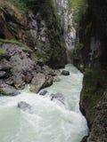 Aare-Schlucht die Schweiz Lizenzfreies Stockfoto