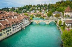 Aaren på Bern, Schweiz Royaltyfri Bild