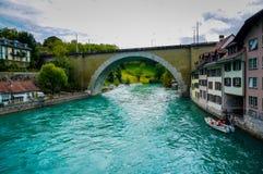 Aaren på Bern, Schweiz Royaltyfria Bilder